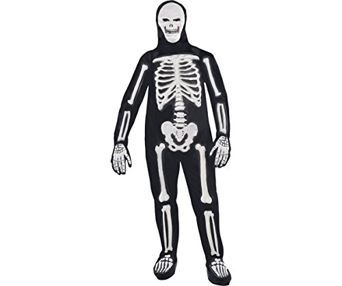 AMSCAN Frightening Bones Halloween Costume for Men, Plus ()