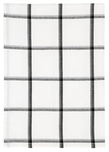 100% Cotton White & Black Plaid 20