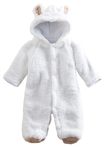 Baby Toddler All in One Snowsuit Romper Snowsuit (0-6 month (Tag 70), White)