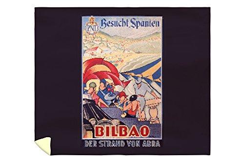Bilbao Vintage Poster (artist: Guezala) Spain c. 1929 (88x104 King Microfiber Duvet Cover) by Lantern Press