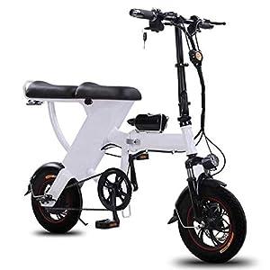 YANGMAN-L Bici elettrica, 12inch E-Bike 48V 25Ah Bicicletta Pieghevole velocità Massima 35 kmh per Pendolari Città…
