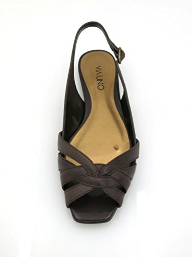 Leather UNO Sandals Sandal Coffee Leather 10801602 Shoes VIA Summer Shoes Leather Shoes F5d1wqw