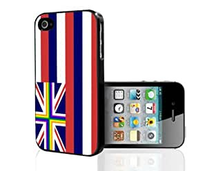 Hawaii State Flag Gay Pride Rainbow Hard Snap on Cell Phone Case Cover iPhone (4 4s)