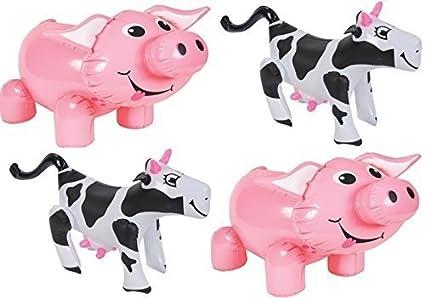 Amazon.com: Animales de Granja – Set de 4 (2 cerdos, 2 vacas ...