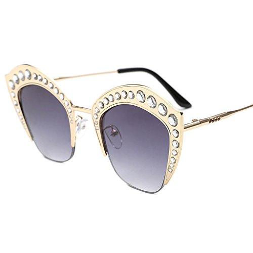 Trend Dames Ronde Lunettes Soleil des Sunglasses Lunettes de personnalité Soleil Lunettes X498 Couleur 3 3 élégantes de coréennes nUPYqB7Yw