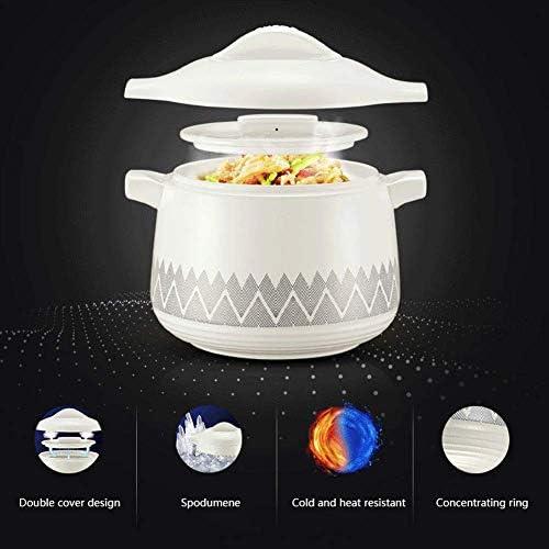 WEIZI Casserole en céramique Casserole Pot à Soupe Batterie de Cuisine en céramique de Grande capacité marmite à Double Couvercle