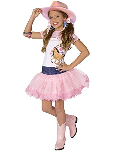 Planet Pop Star Cowgirl Child Costume Pink Medium (Girls Cowgirl Halloween Costume)