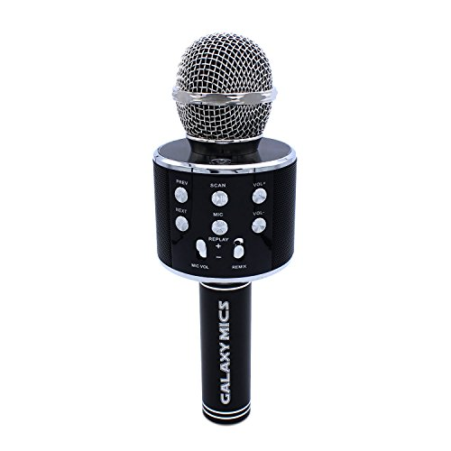 Galaxy Mic Q9 Microphone wireless karaoke machine, 2 in 1 built in Bluetooth Speaker and handheld Mic, Music machine for playing KTV, fits Apple iPhone and android Black