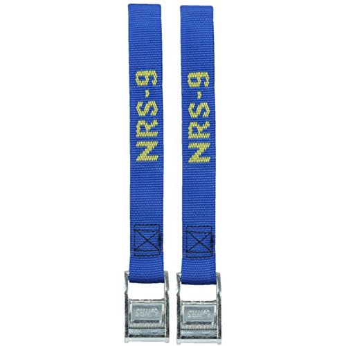NRS 1-Inch Heavy-Duty Tie-Down Straps, Blue (9-Foot)- Pair
