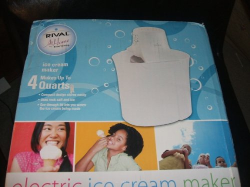 Rival Electric 4-Quart Ice Cream Maker (Rival 4qt Ice Cream Maker)