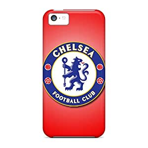 Iphone 5c Hard Back With Bumper Silicone Gel Tpu Case Cover Chelsea Fc