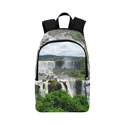 (Tributaries of The Amazon River Casual Daypack Travel Bag College School Backpack for Mens and Women)