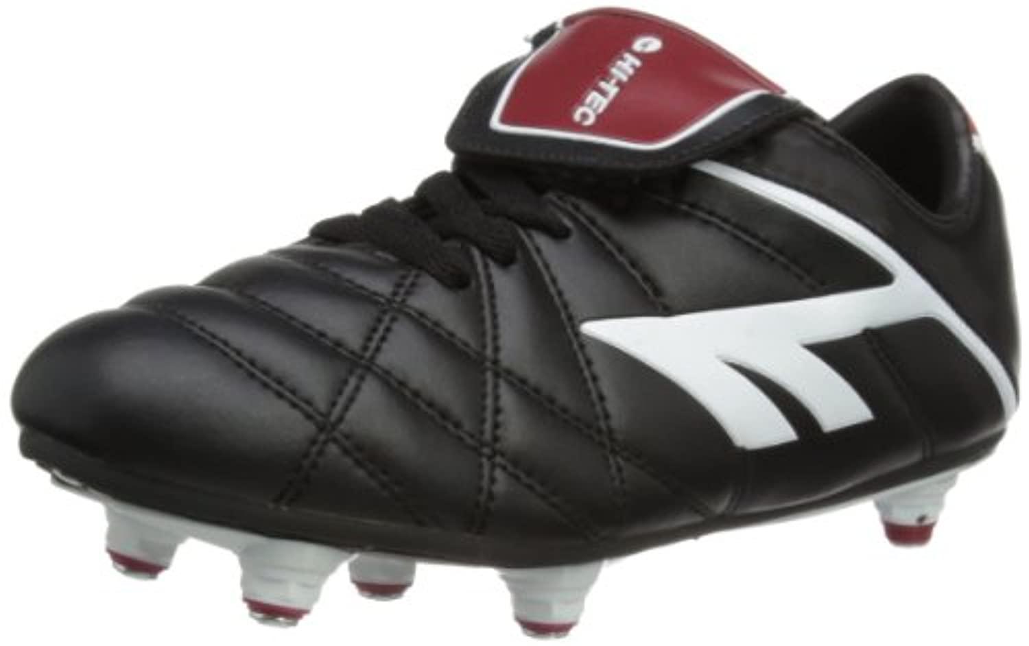 Hi-Tec League Pro Si Lace Junior, Unisex Kids Football Competition Shoes, Black (Black/White/Red 021), 6 UK (39 EU)