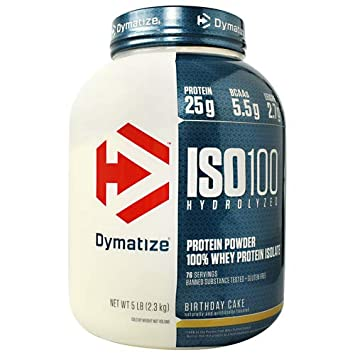 Image Unavailable Not Available For Color Dymatize ISO 100 Hydrolyzed Whey Protein Isolate