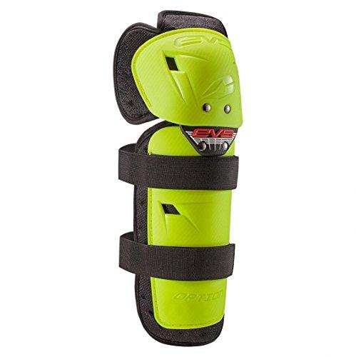 EVS Sports OPTK16-HVY-A unisex-adult Option Knee (Hi Viz Yellow, Adult), 1 Pack