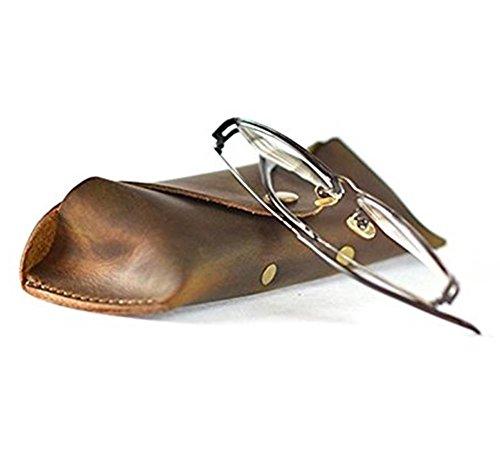 Handmade Crazy Horse Leather Eyeglass Case Sunglasses Protective - Crazy Eye Glasses