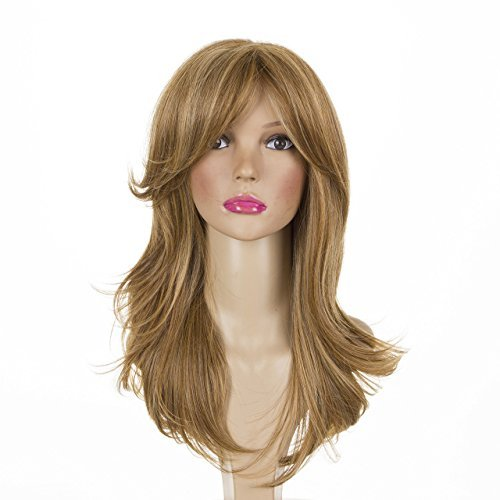 Long Straight Ash Blonde Layered Thick Glamour