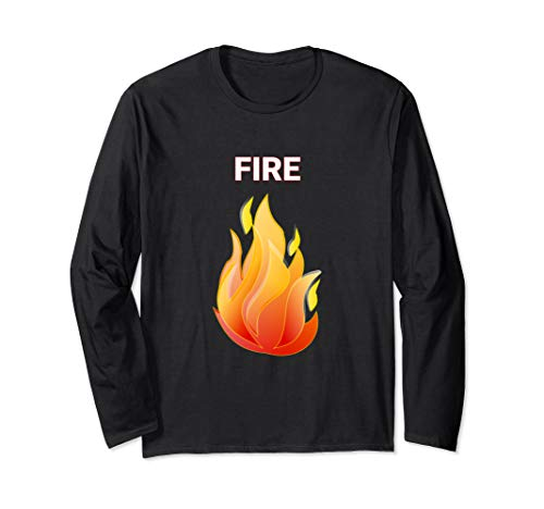 Fire and Ice Matching Couple Halloween Group Costume Shirts Long Sleeve -