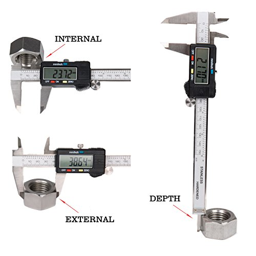 FAMILY Electronic Digital Caliper 6 inches / 150 mm Stainles