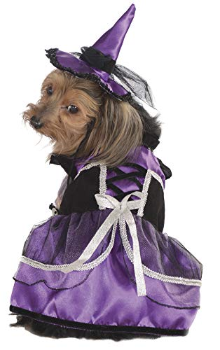 Rubie's Pet Costume, Extra-Large, Purple Witch Dress and Hat
