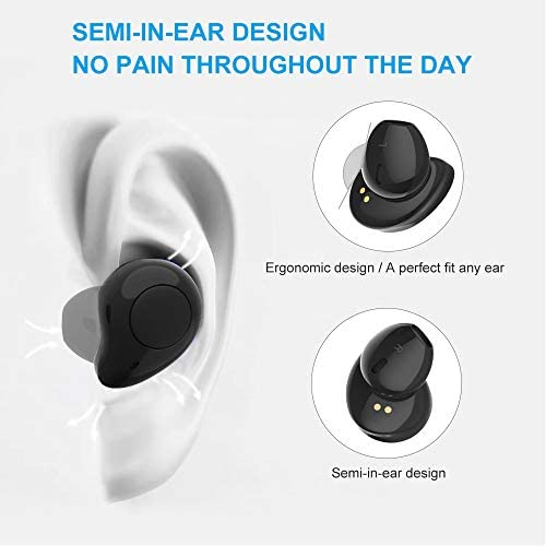 True Wireless Earbuds,Willful T1 Bluetooth 5.0 Earbuds in-Ear Headphones Wireless Earphones HD Stereo Sound,Clear Call,20H Playtime,2019 Version TWS with Mic Charging Case for iPhone Android Black