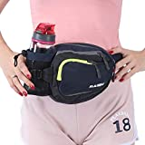 Innokids Fanny Pack with Water Bottle Holder Hiking Waist Pack Lumbar Waist Bag for Women Men Running Dog Walking Camping Travel (Navy Blue)
