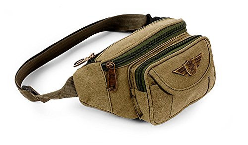 Cheap K-Martins Waist bag pack Running Fanny Pack Bum Bag (Koyote-Brown-1pc)