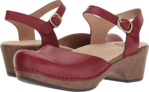 Dansko Women's Sam Sandal, red Full Grain, 36 M EU (5.5-6 US)