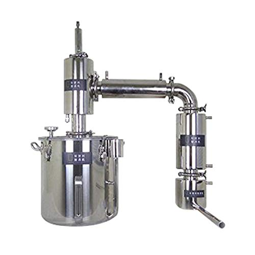 21-170L Home Water Distiller Spirits Brandy Vodka Alcohol Stainless Distiller Boiler Wine Making Essential Oil Brew Kits w/Thermometer Water Pump (71L)