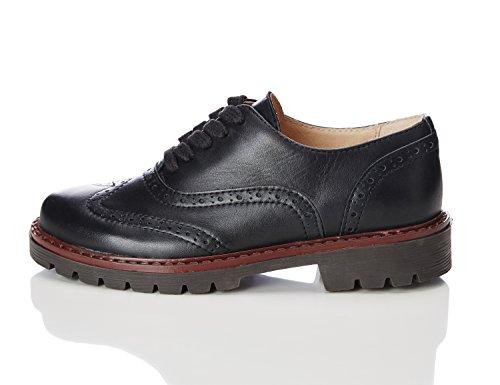 Black Crantée à WAGON Chaussures RED Classiques Garçon Semelle Noir 7X8Wq