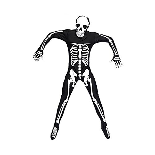 Koola Men's Skull Bones Skeleton Costumes One-Piece Suit ...