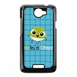 HTC One X Cell Phone Case Black Pea in a Diaper Xadme