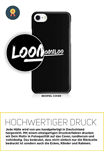 COVER Comic Fast food Essen weiss Design Handy Hülle Case 3D-Druck Top-Qualität kratzfest Apple iPhone 7 Plus