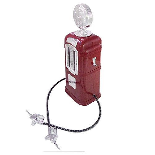 Red Color Double Guns Liquor Pump Gas Station Beer Dispenser Alcohol Liquid Soft Drink Beverage Dispenser Machine,Bar Butler 2L capacity