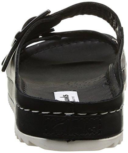 black Netrix Femme Leather Clarks Rose Sandales Noir dXqxR7w
