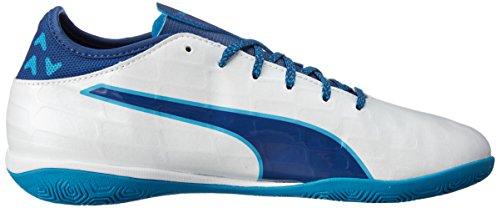 Puma Evotouch 3 It, Botas de Fútbol para Hombre Blanco (Puma White-true Blue-blue Danube 02)