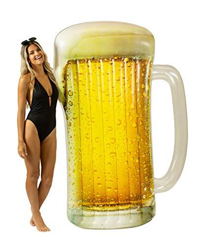 Pool Candy Giant Beach & Pool Raft Inflatable Pool Raft, Beer Mug