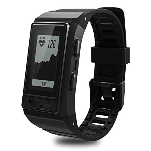 Hmhope Smart Bracelet Fitness Tracker GPS Pedometer Heart Rate Monitor Multi-Sport Mode Waterproof Outdoor Display Screen for Android and IOS,Black by pedometer