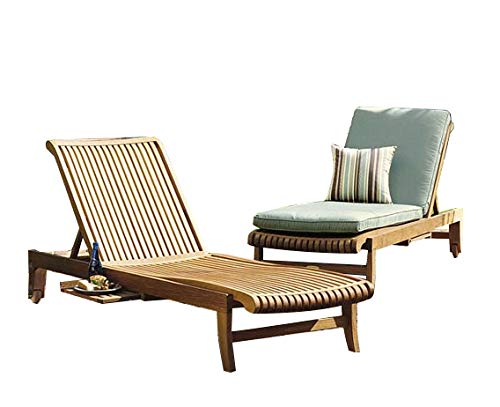 Multi Position Chaise Lounger - Giva Multi Position Sun Chaise Lounger Steamer with Slide Out Tray (Furniture only) Made from A-Grade Teak Wood #23CLGV
