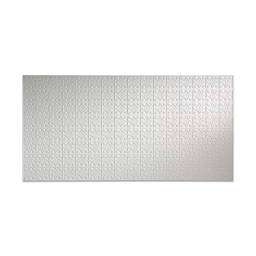 Fasade – Traditional 1 Matte White Decorative Wall Panel – Fast and Easy Installation 4 X 8 Panel