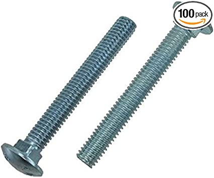 """16 Carriage Bolts 5//16-18 x 3/"""" Zinc Plated Steel"""