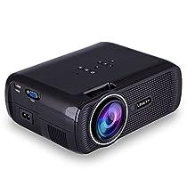 Fenebort Mini Projector, 1080P HD LED Home Mulit Media Theater Movie Projector USB AV TV VGA SD HDMI 3.5mm Audio Port Supports Picture, Vedio, Audio Format