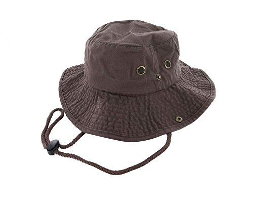 Brown_(US Seller)Unisex Hat Wide Brim Hiking Bucket Safari