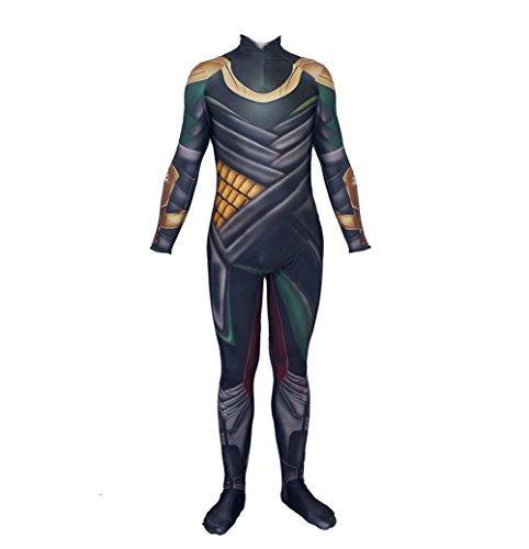 PONGONE Loki Bodysuits Halloween Cosplay One Piece Jumpsuit Loki Cosplay Costume M ()