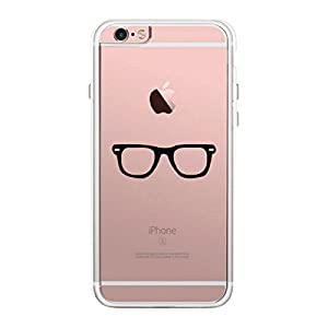 365 Printing Nerdy Eyeglasses iPhone 6 Plus Phone Case Clear Phonecase