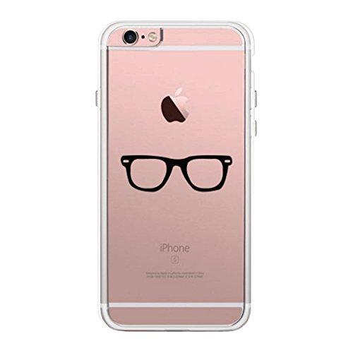 365 Printing Nerdy Eyeglasses iPhone 6 Plus Phone Case Clear - Eyeglasses 365