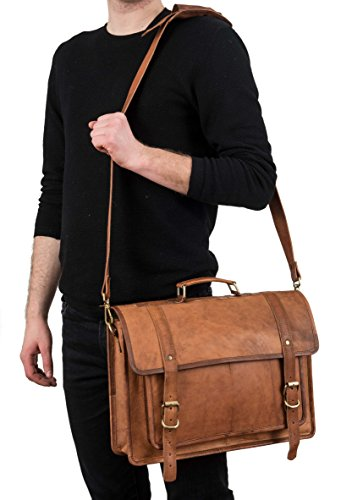 Berliner Bags  Antwerp (normal stitching), Borsa Messenger  Uomo Unisex adulto Donna marrone marrone L