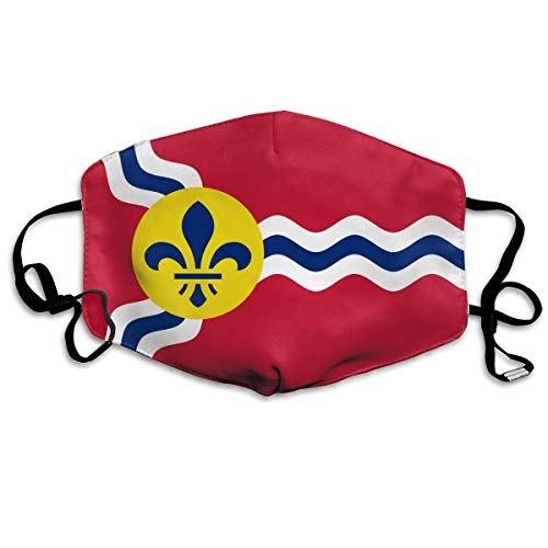 SDQQ6 Flag of St. Louis, Missouri Mouth Mask Unisex Printed Fashion Face Mask Anti-dust Masks