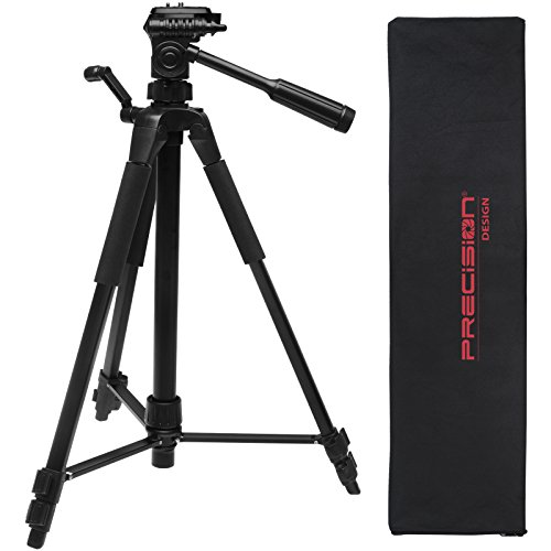Precision Design PD-58PVTR 58-inch Photo/Video Tripod with Case