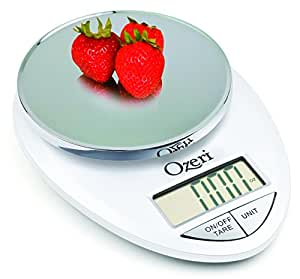 Ozeri ZK12-W Pro Digital Kitchen Food Scale, 1g/12 lb, White